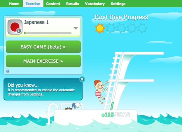 Try WordDive's new exercise mode to boost your motivation