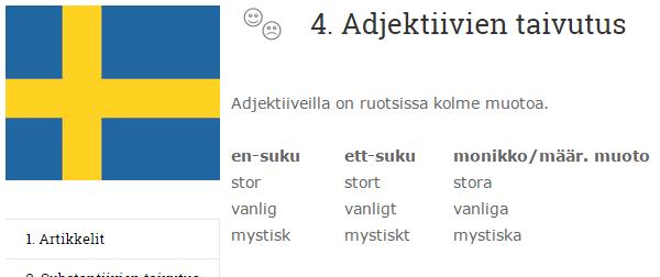 Ruotsin kielioppi